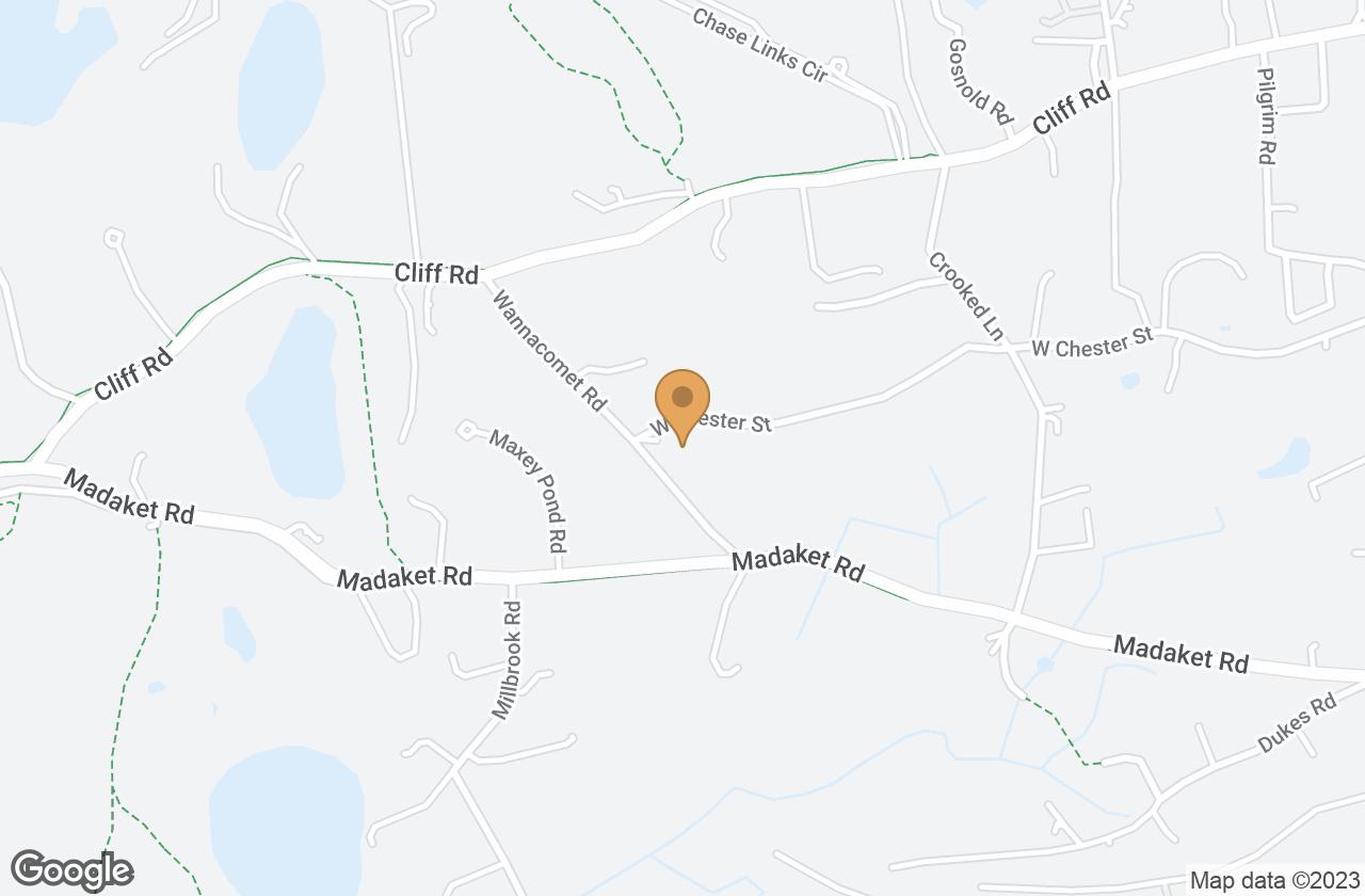 Google Map of 9 Wannacomet Road, Nantucket, MA, USA