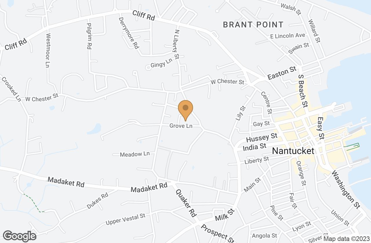 Google Map of 7A Grove Lane, Nantucket, MA, USA