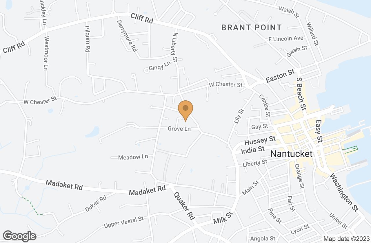 Google Map of 3 Powderhouse Lane, Nantucket, MA, USA