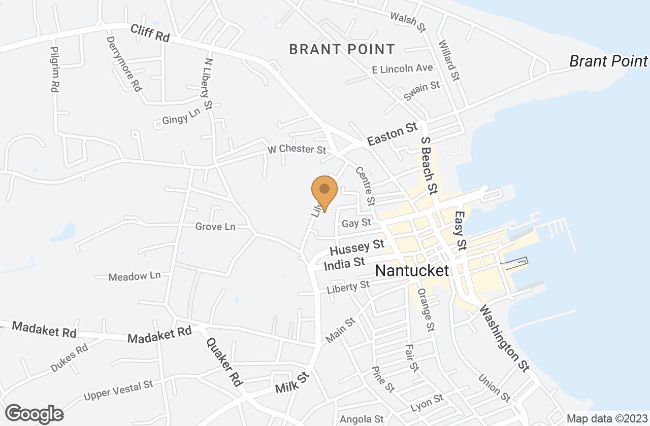 Google Map of 17  Academy Lane, Nantucket, MA, USA