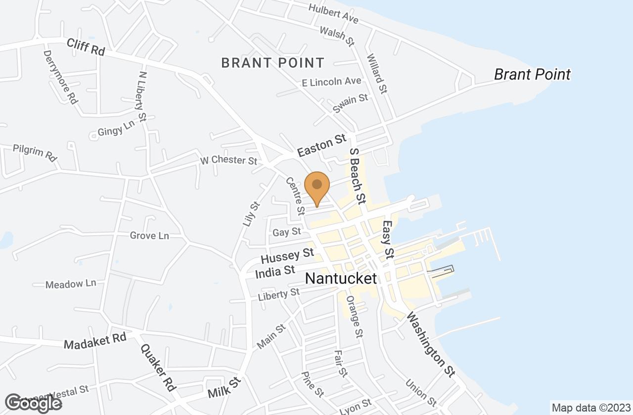 Google Map of 8 Ash Street, Nantucket, MA, USA