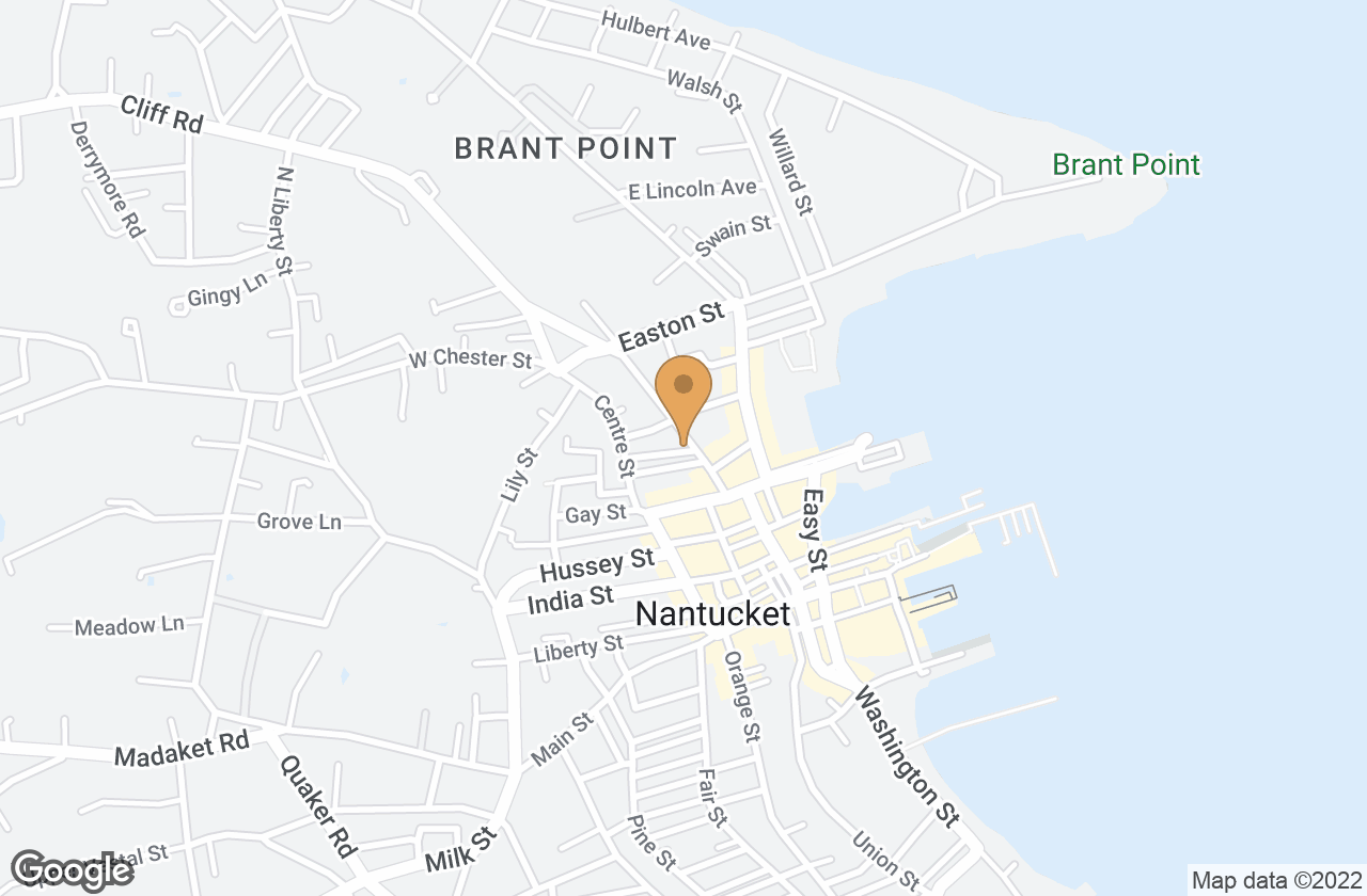Google Map of 1 Ash Street, Nantucket, MA, USA