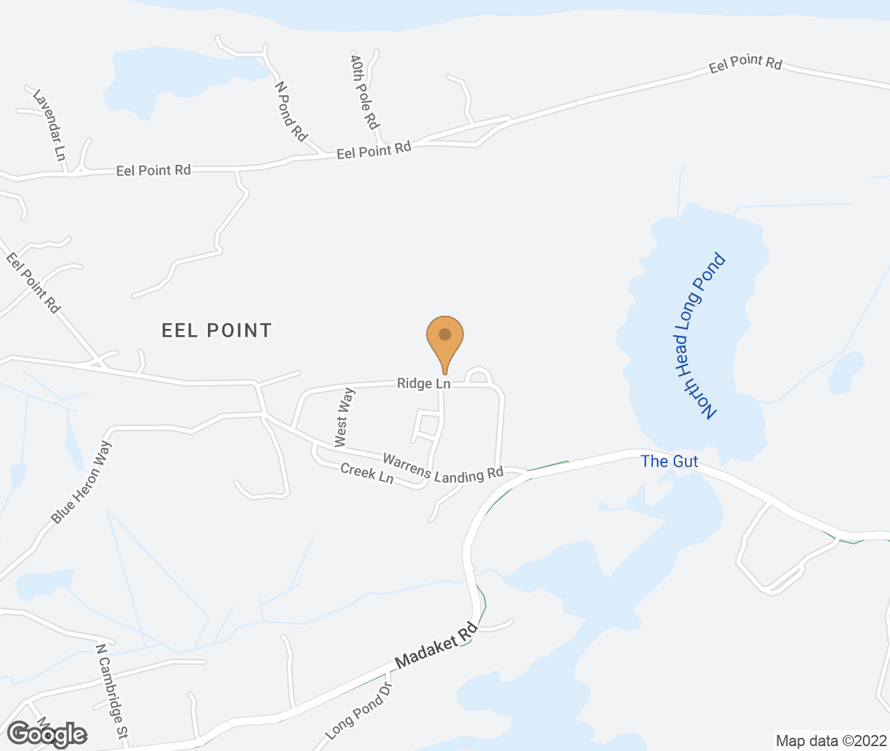 Google Map of 19 Ridge Lane, Nantucket, MA, USA