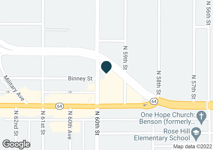 Google Map of2929 N 60TH ST