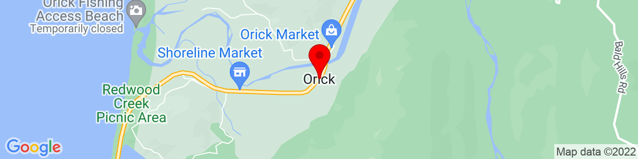 Google Map of 41.2863689, -124.0597992