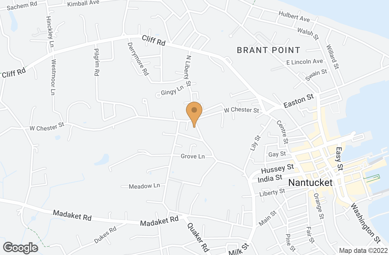 Google Map of 44 North Liberty Street, Nantucket, MA, USA