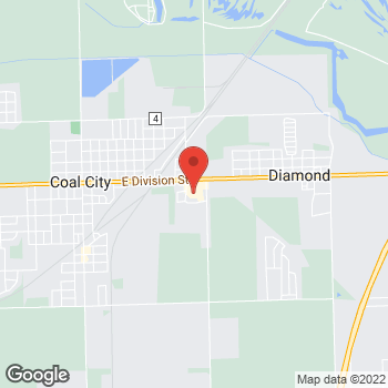 Map of Hair Cuttery at 1009 E Division Street, Coal City, IL 60416
