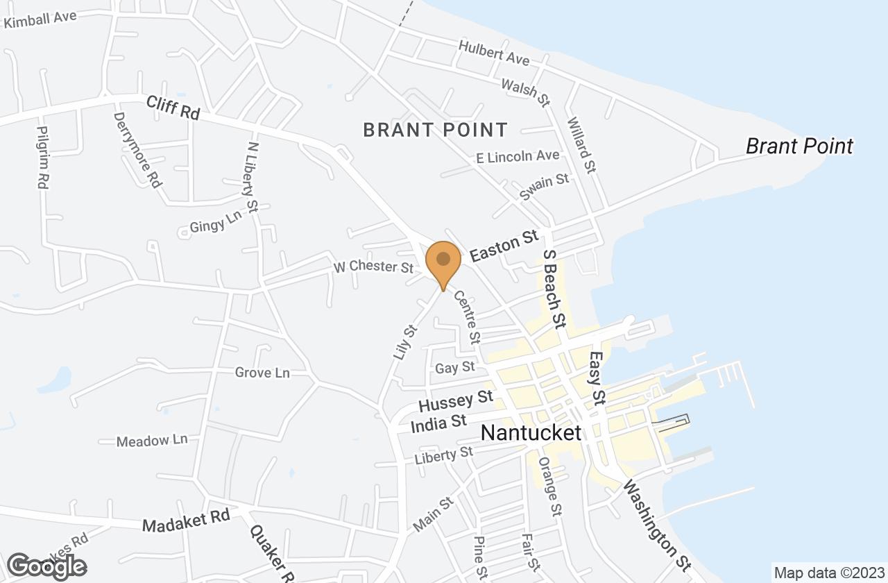 Google Map of 74 Centre Street , Nantucket, MA, USA