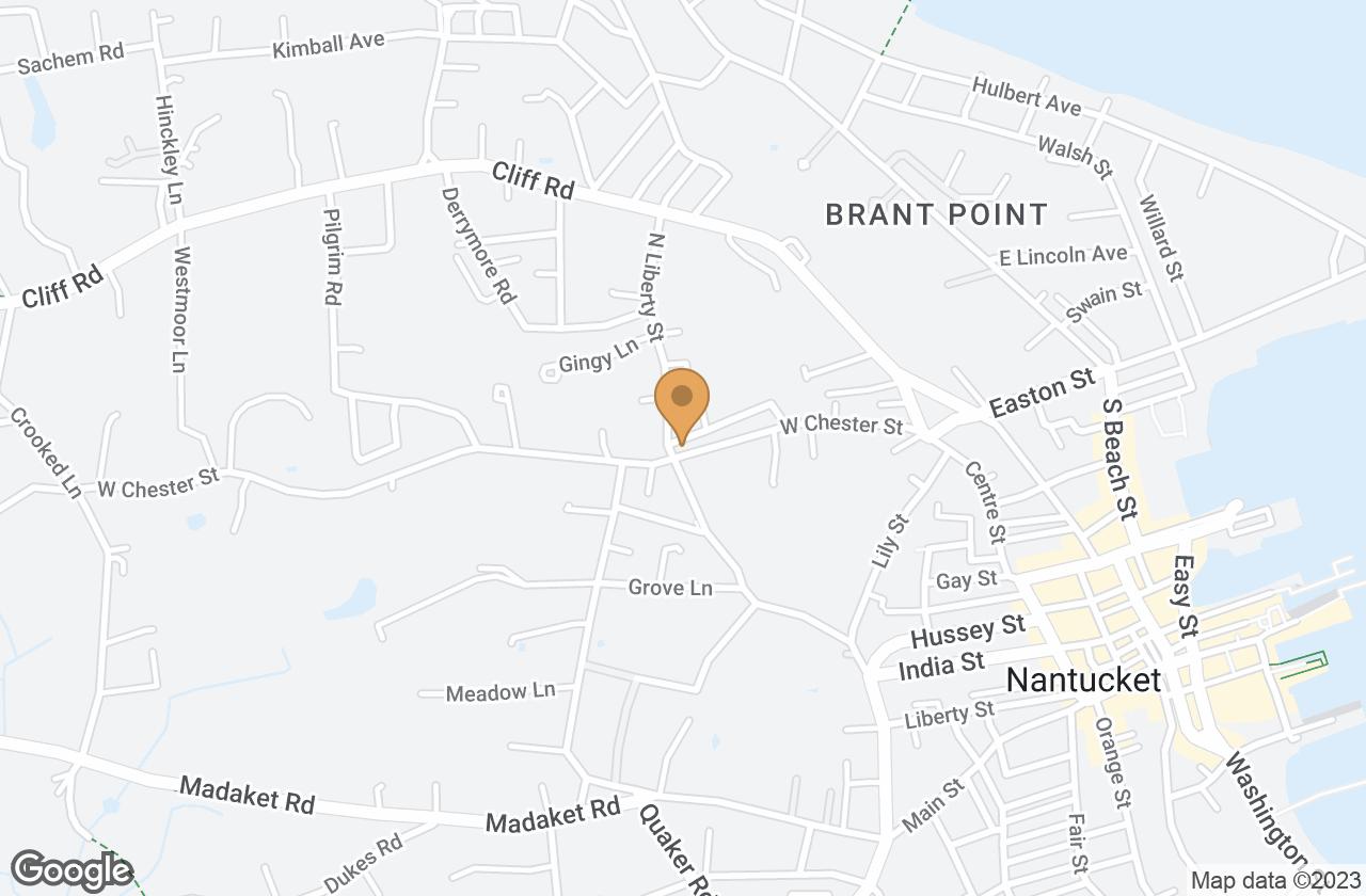 Google Map of 37  West Chester Street, Nantucket, MA, USA
