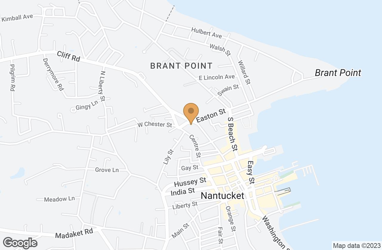 Google Map of 4 Chester Street, Nantucket, MA, USA