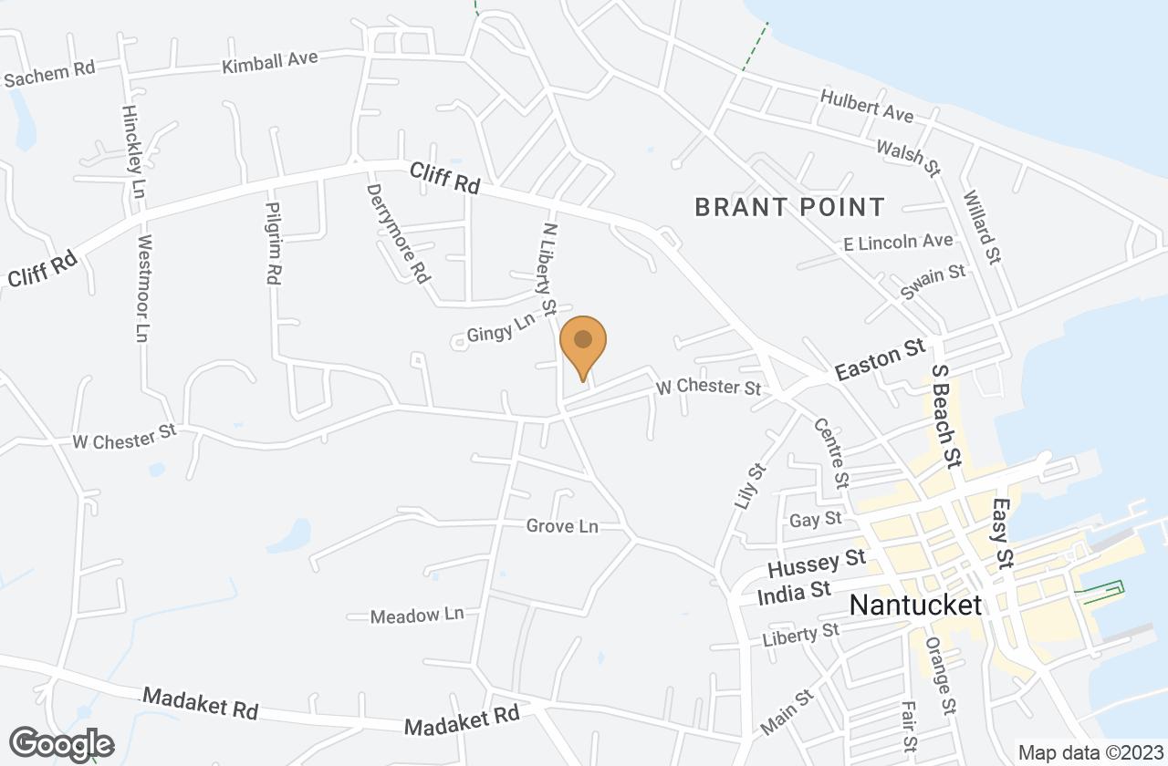 Google Map of 10 Sunset Hill Lane, Nantucket, MA, USA