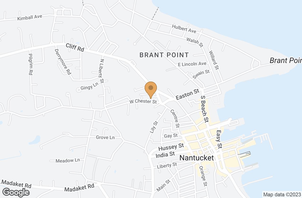 Google Map of 9 West Chester Street, Nantucket, MA, USA