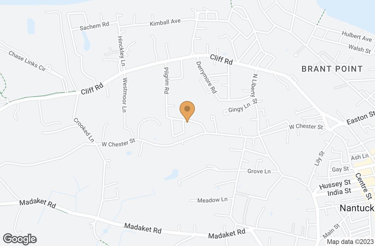 Google Map of 9A Pilgrim Road, Nantucket, MA, USA