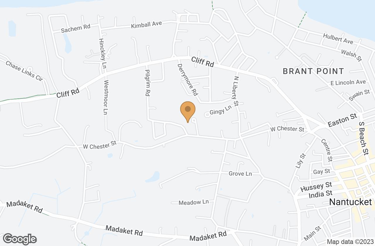 Google Map of 1 Pilgrim Court, Nantucket, MA, USA