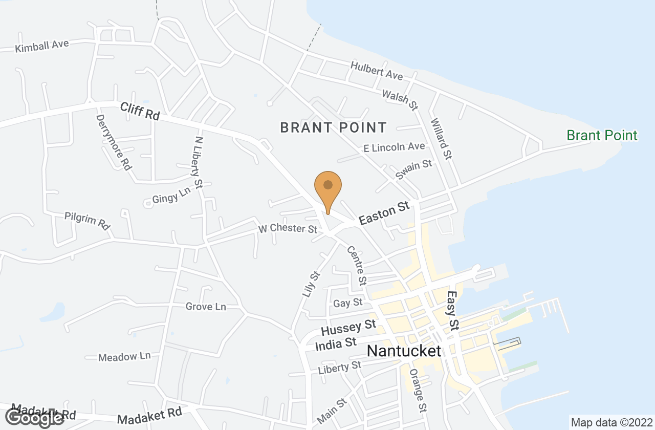 Google Map of 8 Cliff Road, Nantucket, MA, USA