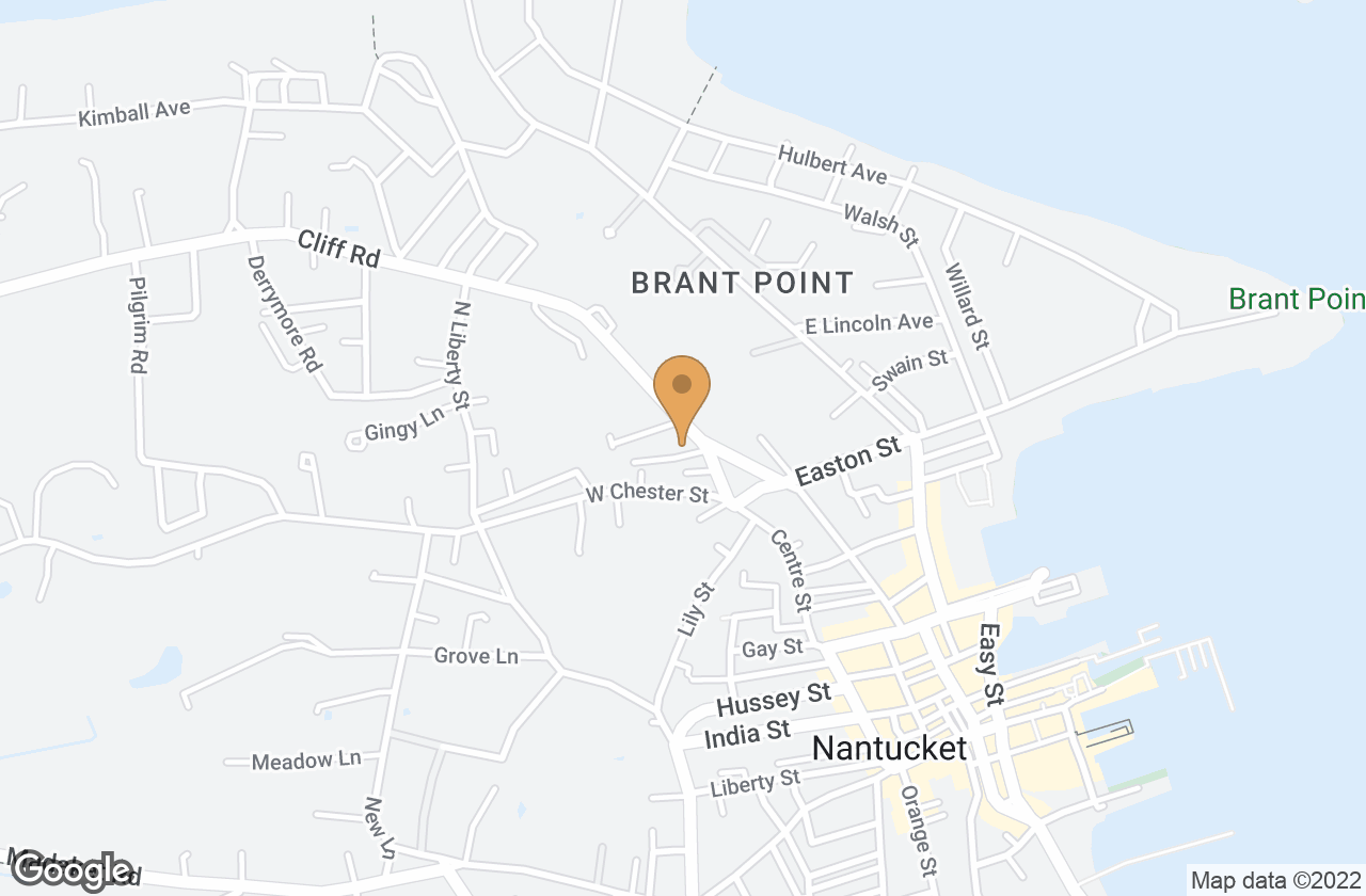 Google Map of 1 Kite Hill Lane, Nantucket, MA, USA