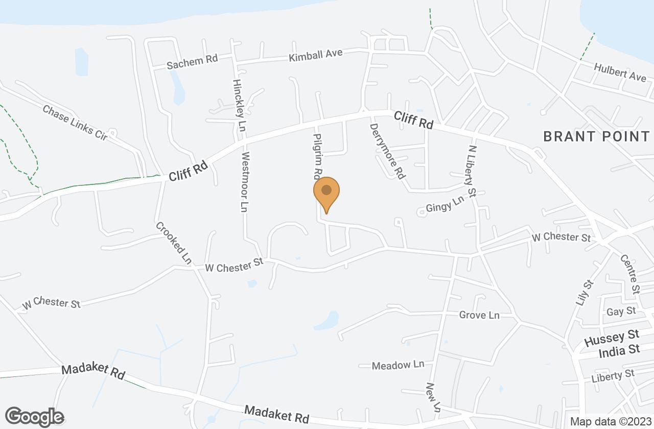 Google Map of 17 Pilgrim Rd