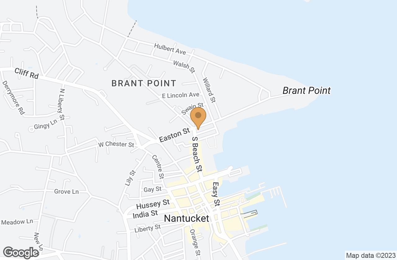 Google Map of 66 Easton Street, Nantucket, MA, USA