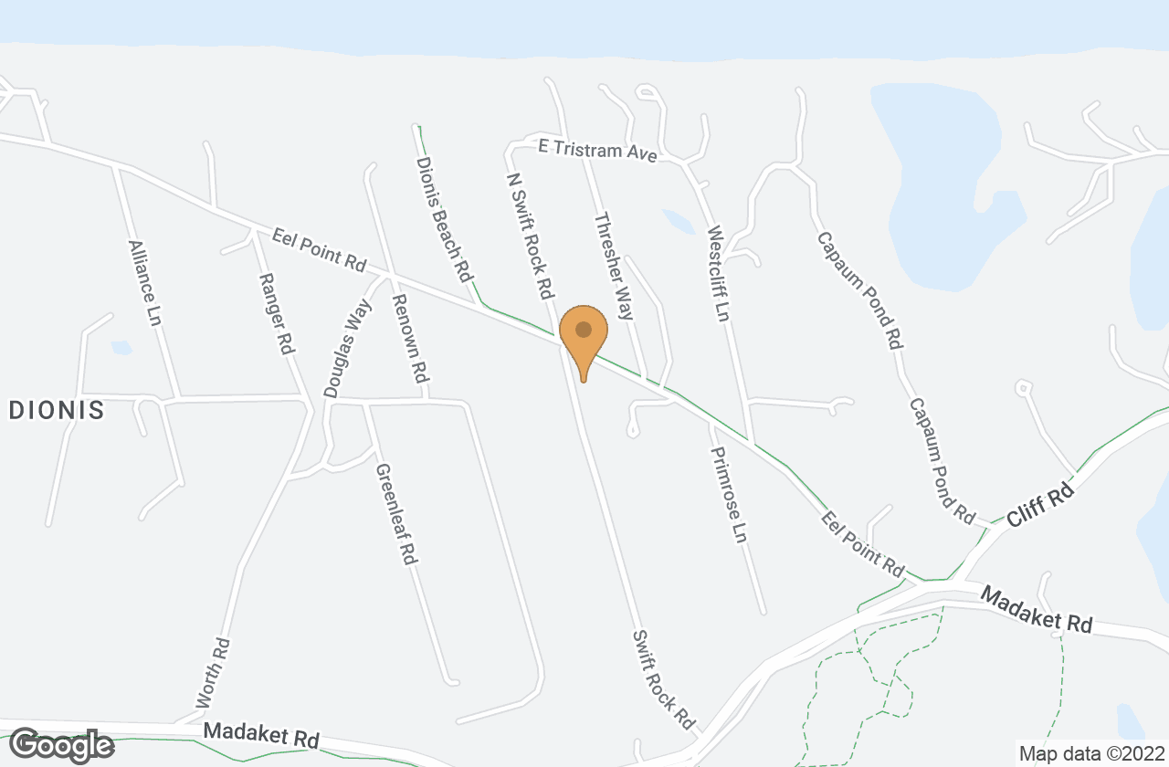 Google Map of 22 Eel Point Road, Nantucket, MA, USA