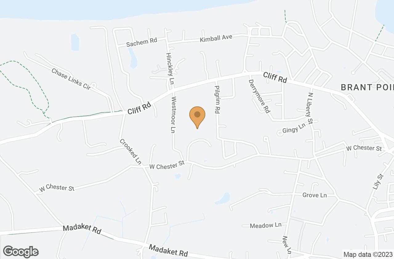 Google Map of 6 Old Westmoor Farm Road, Nantucket, MA, USA