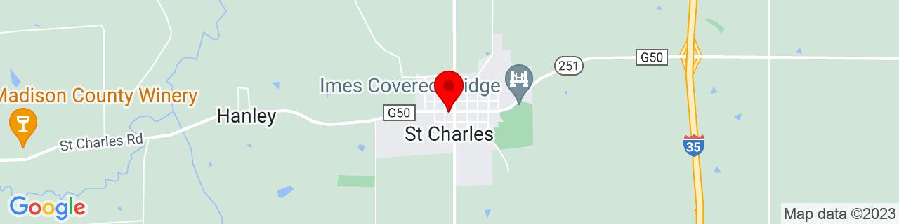 Google Map of 41.2883257, -93.8093887