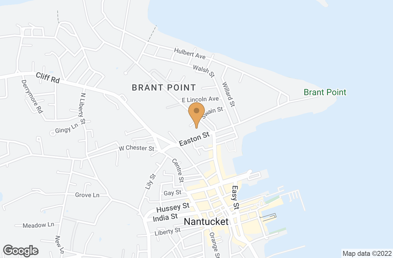 Google Map of 69 Easton Street, Nantucket, MA, USA
