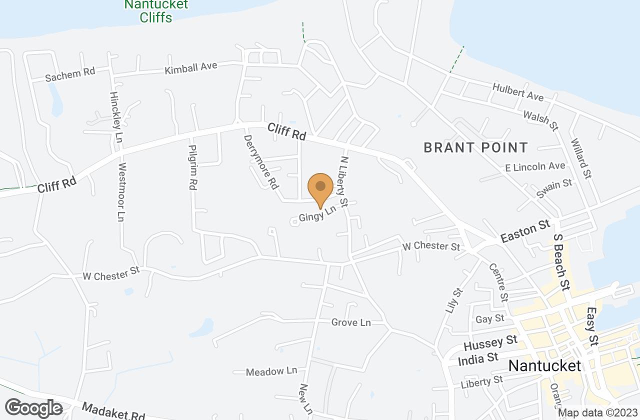 Google Map of 8 Gingy Lane, Nantucket, MA, USA