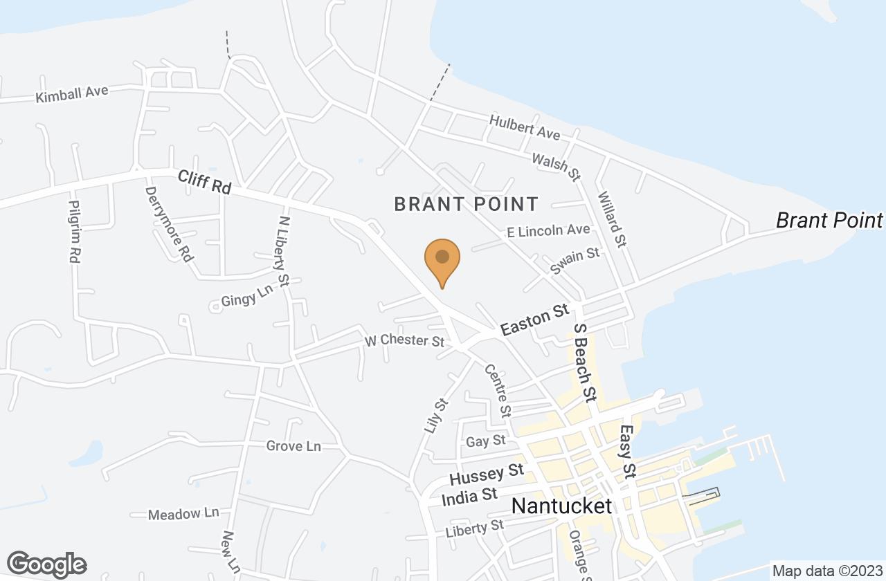 Google Map of 15 Cliff Road, Nantucket, MA, USA