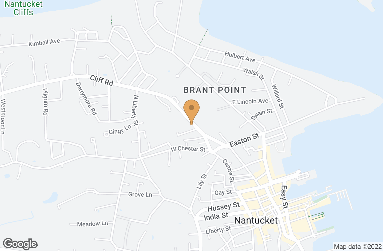 Google Map of 20 Cliff Road, Nantucket, MA, USA