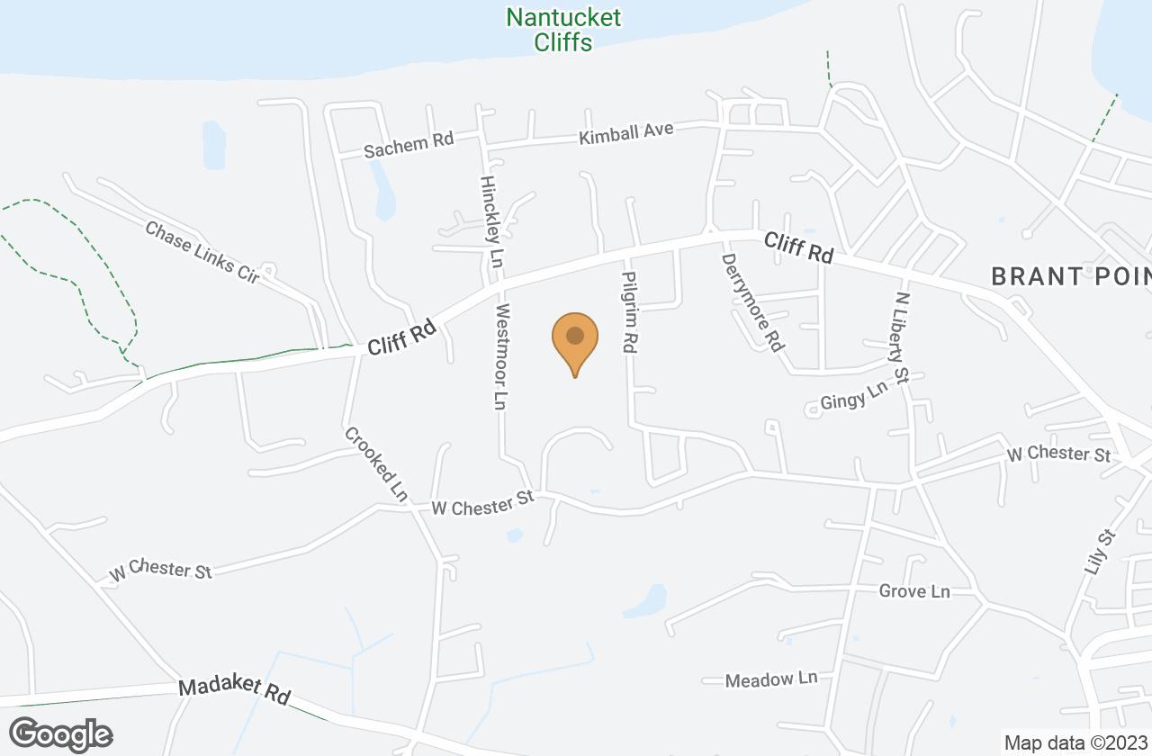 Google Map of 8 Old Westmoor Farm Road, Nantucket, MA, USA