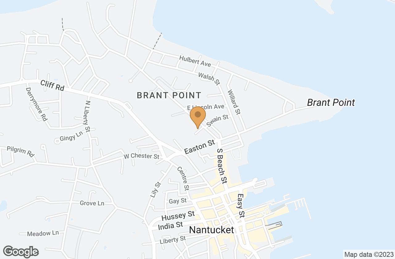 Google Map of 3 Dolphin Court, Nantucket, MA, USA