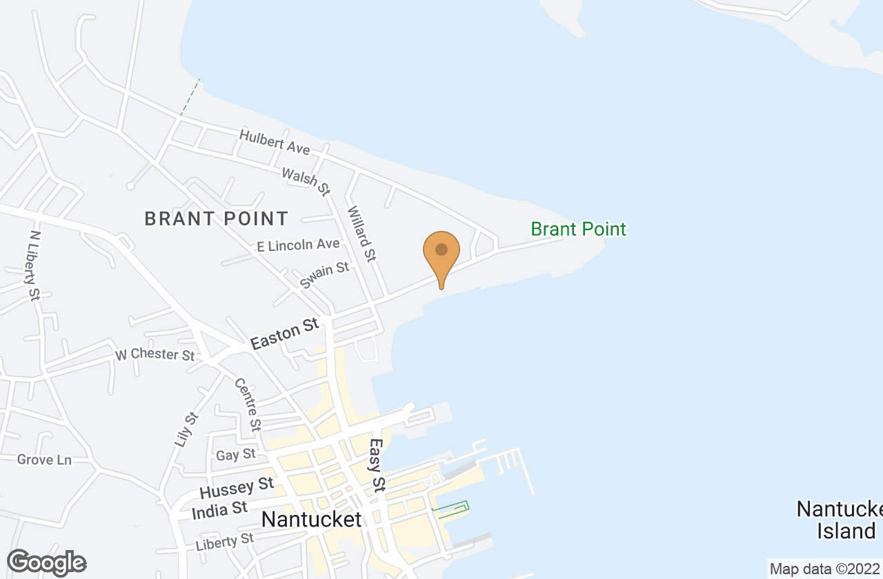 Google Map of 40 Easton Street, Nantucket, MA, USA
