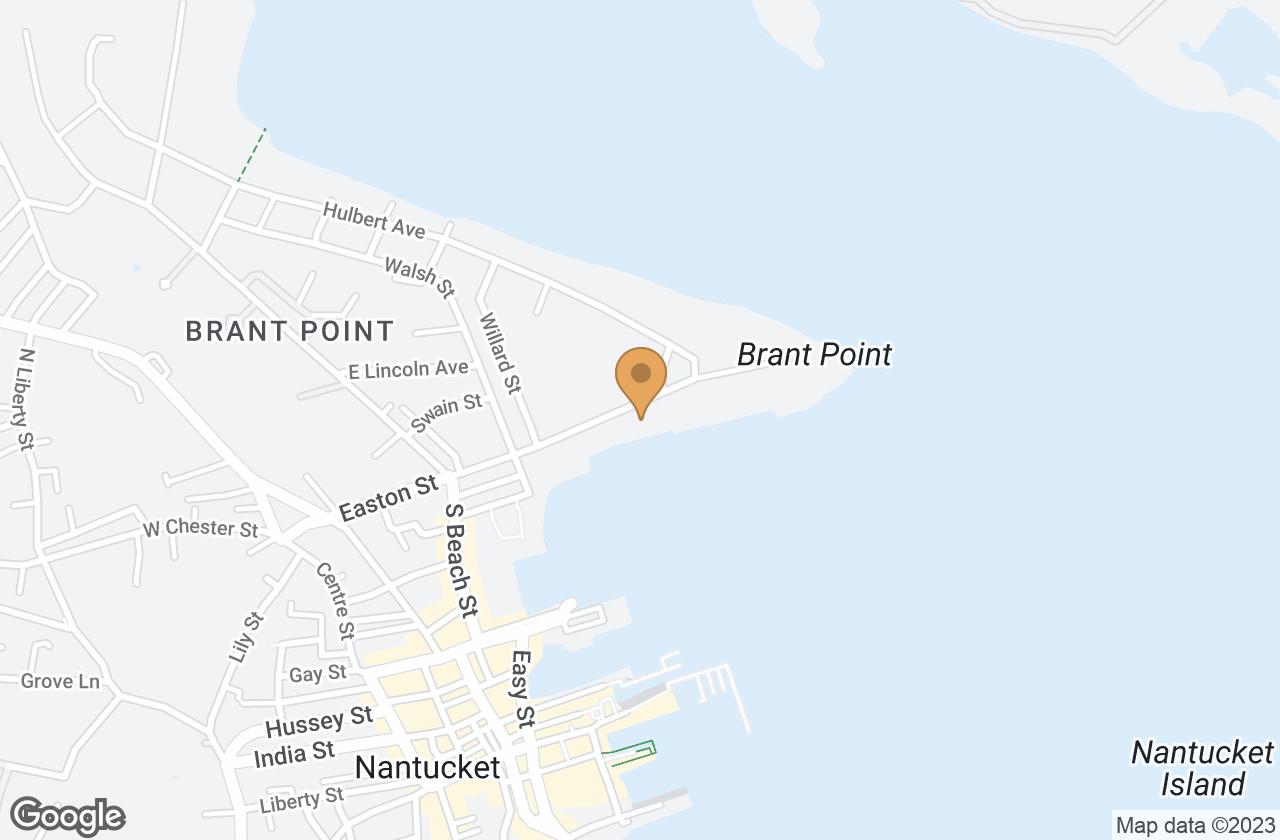 Google Map of 34  Easton Street, Nantucket, MA, USA