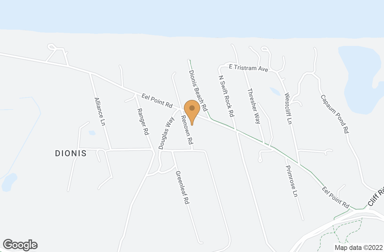 Google Map of 34 Eel Point Rd