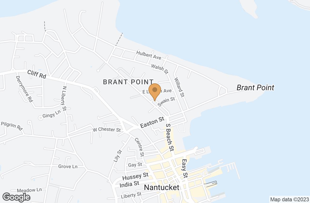 Google Map of 17 Beach Grass Road, Nantucket, MA, USA