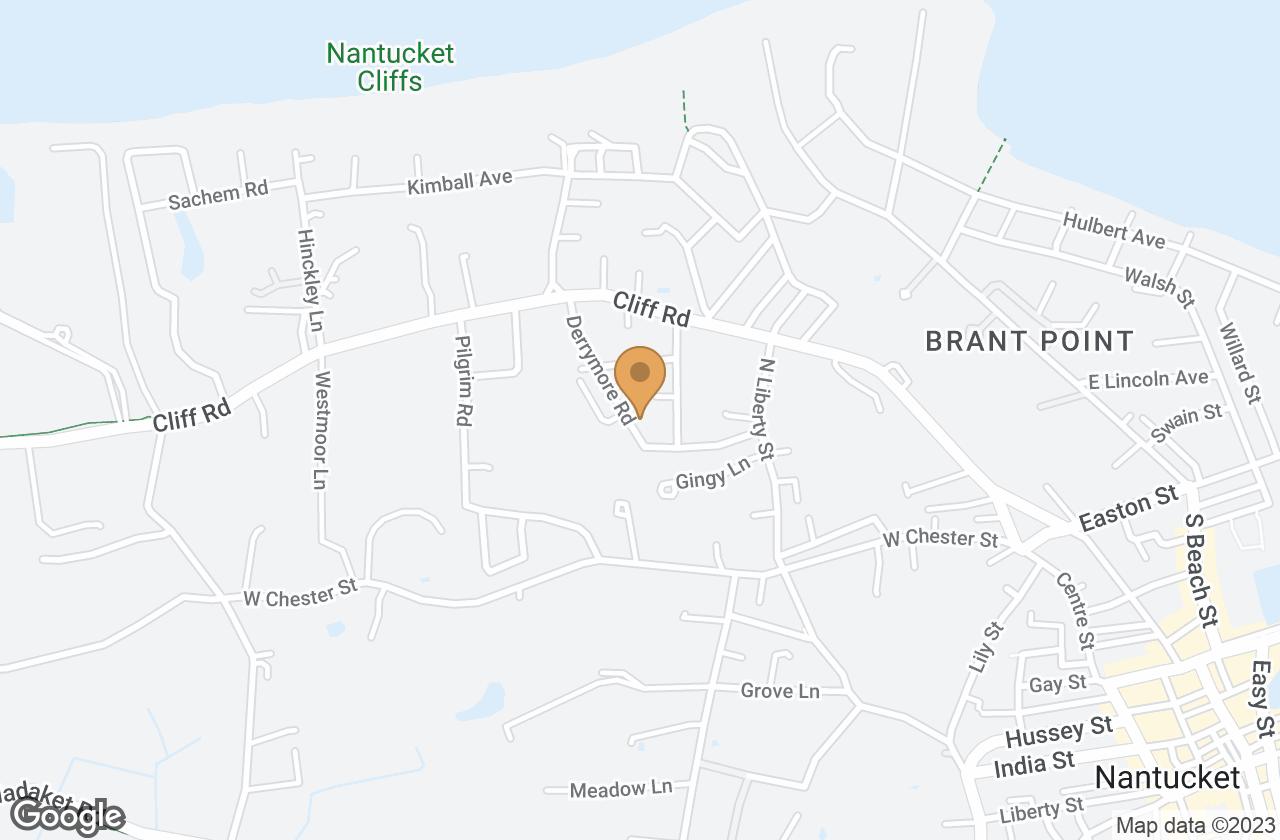 Google Map of 19 Derrymore Road, Nantucket, MA, USA