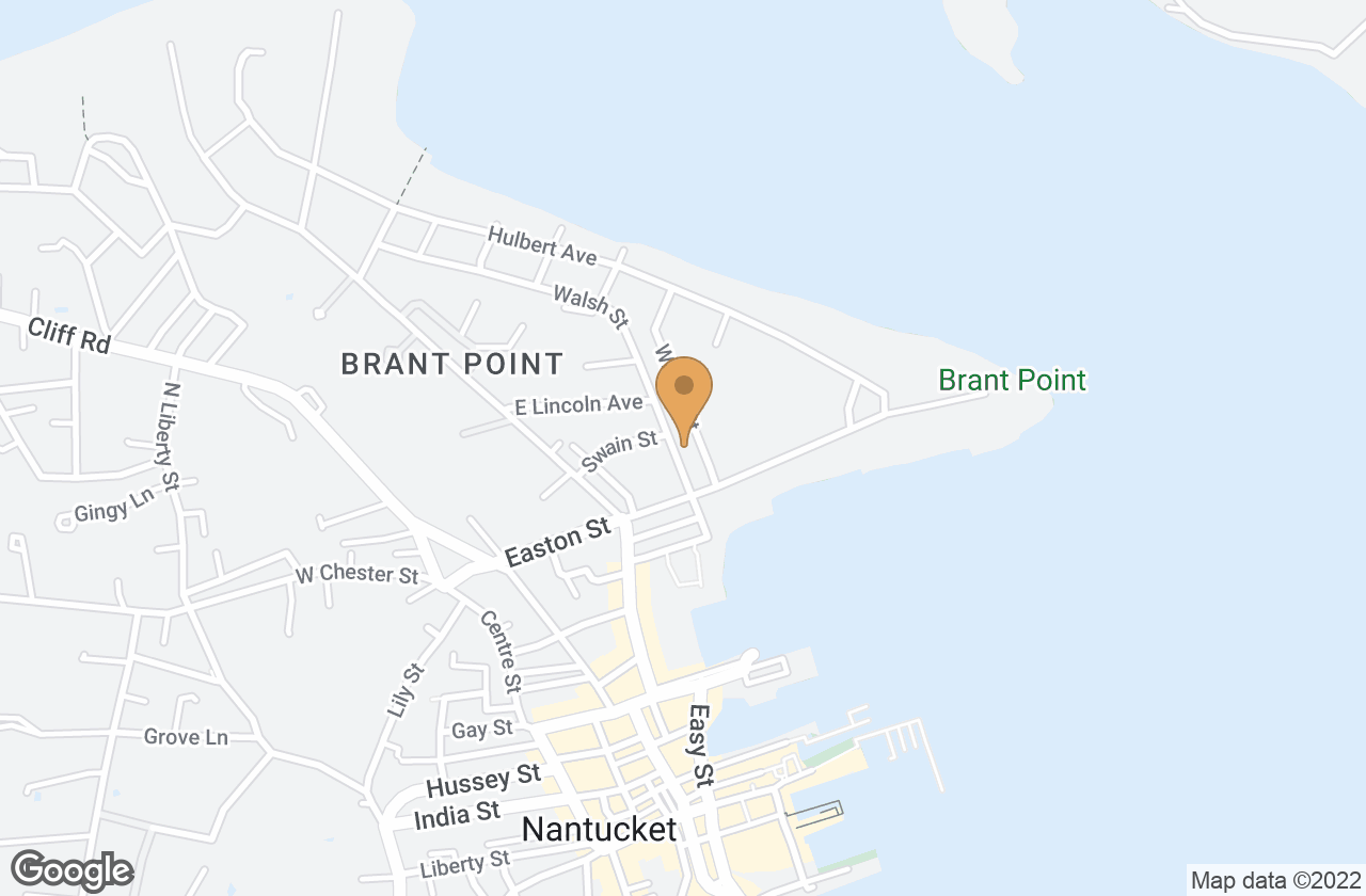 Google Map of 7 Walsh Street, Nantucket, MA, USA
