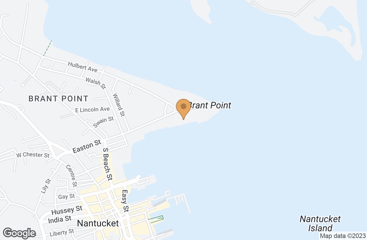 Google Map of 16 Easton Street , Nantucket, MA, USA