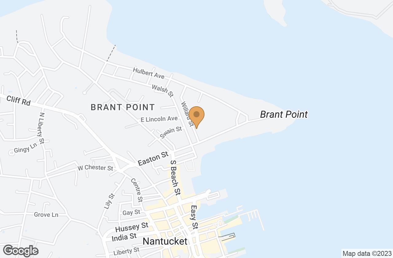 Google Map of 9 Willard Street, Nantucket, MA, USA