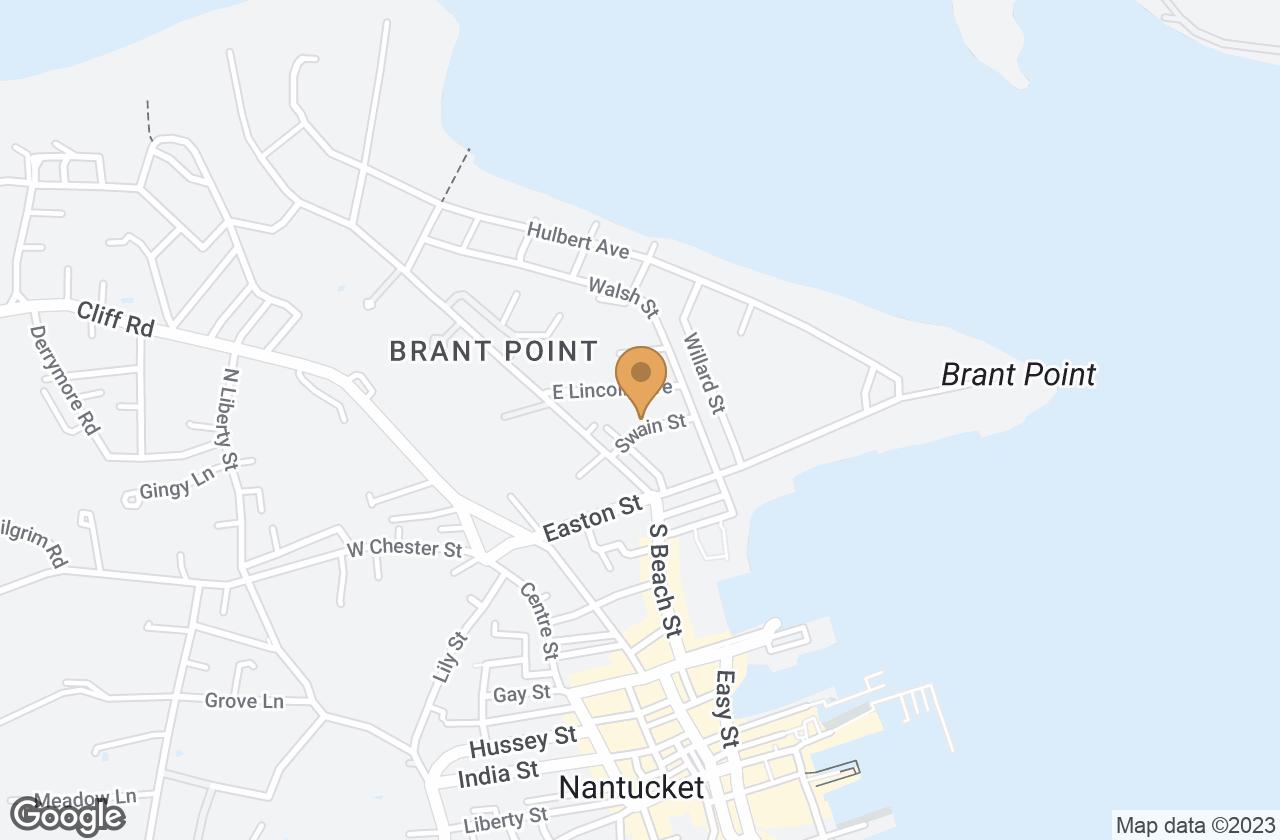 Google Map of 7 Swain Street, Nantucket, MA, USA