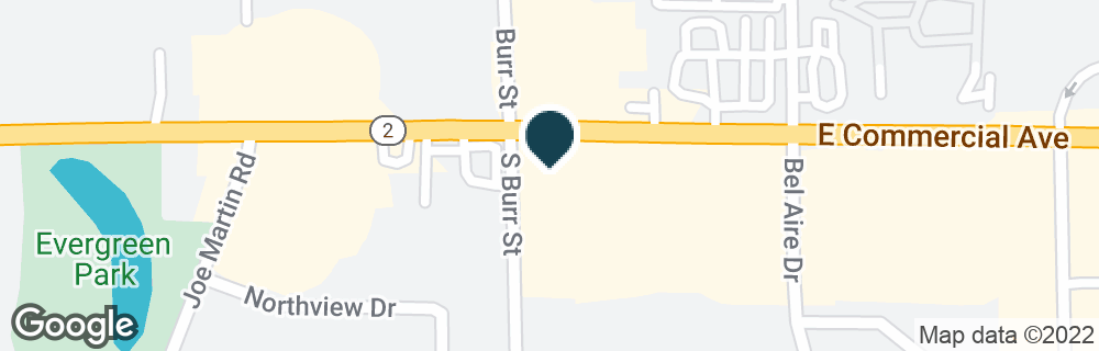 Google Map of1704 E COMMERCIAL AVE
