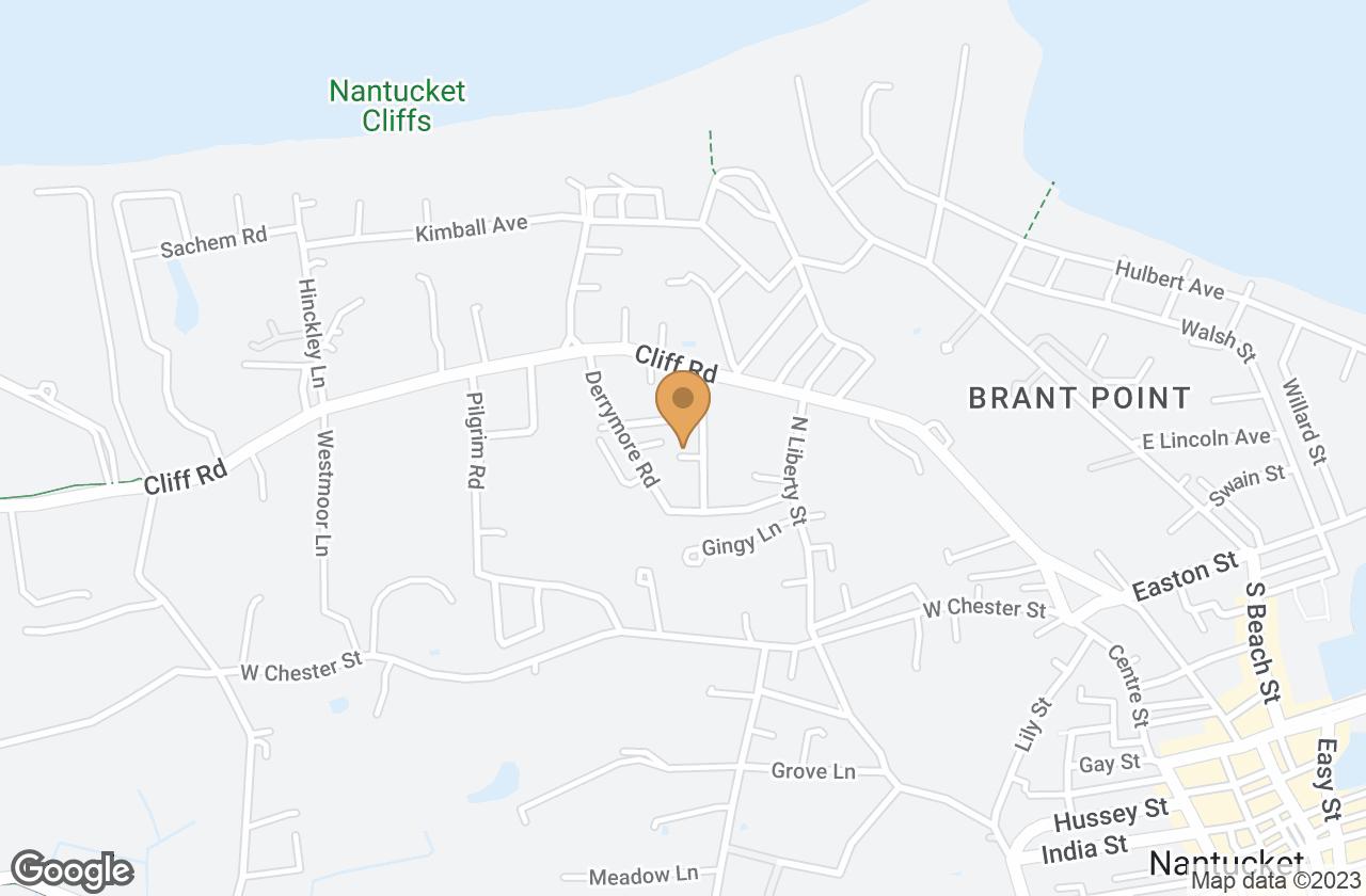 Google Map of - Reliance Way, Nantucket, MA, USA