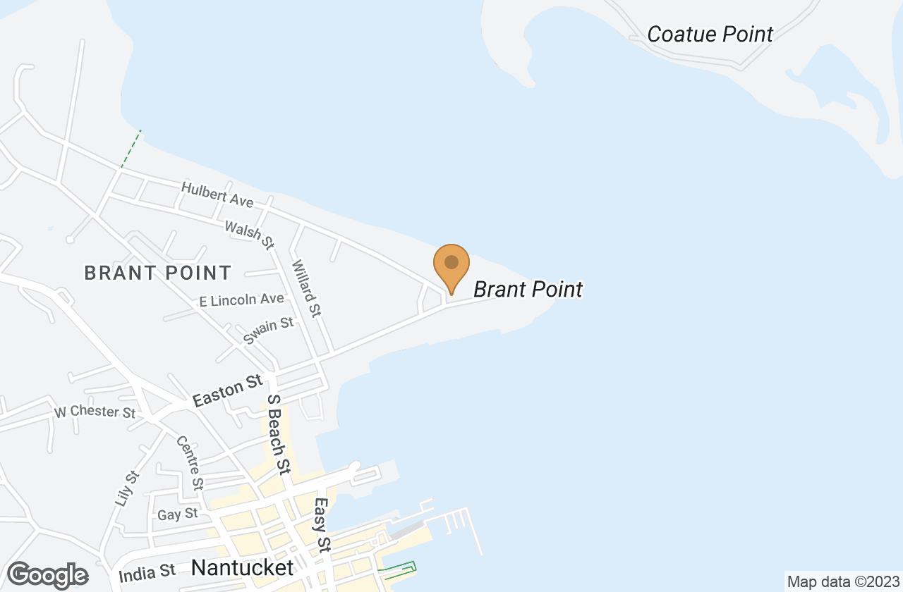 Google Map of 13 Easton Street, Nantucket, MA, USA