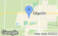 Map of Oberlin, OH