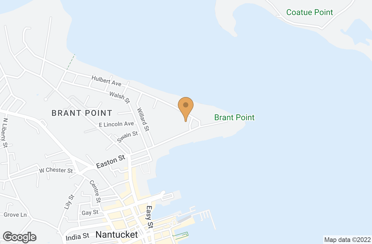 Google Map of 4 Hulbert Avenue, Nantucket, MA, USA