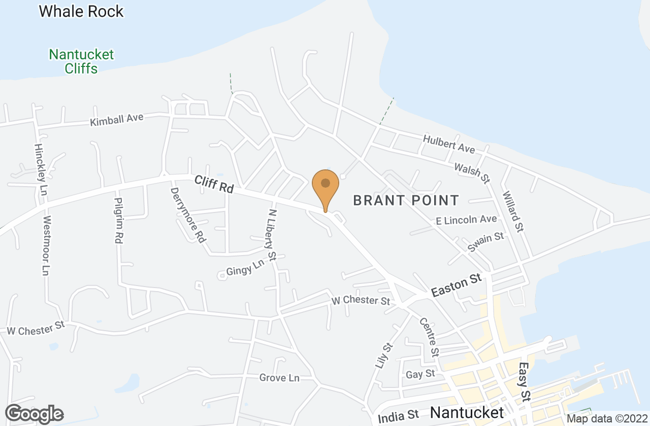 Google Map of 38/40 Cliff Road, Nantucket, MA, USA