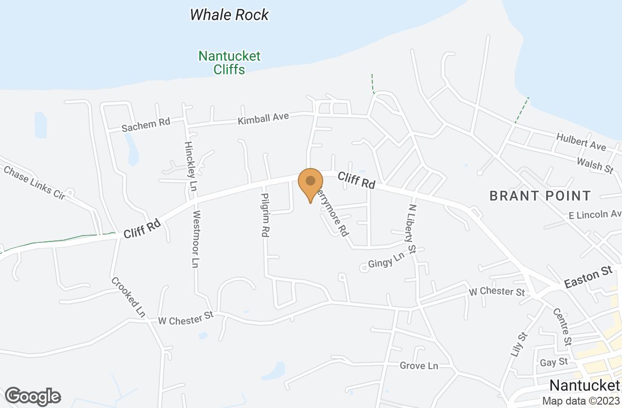 Google Map of 34 Derrymore Road, Nantucket, MA, USA