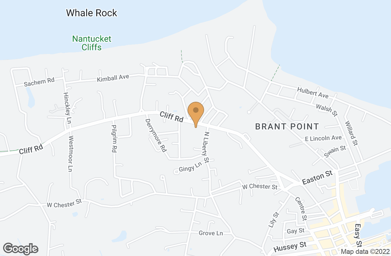 Google Map of 60 Cliff Road, Nantucket, MA, USA