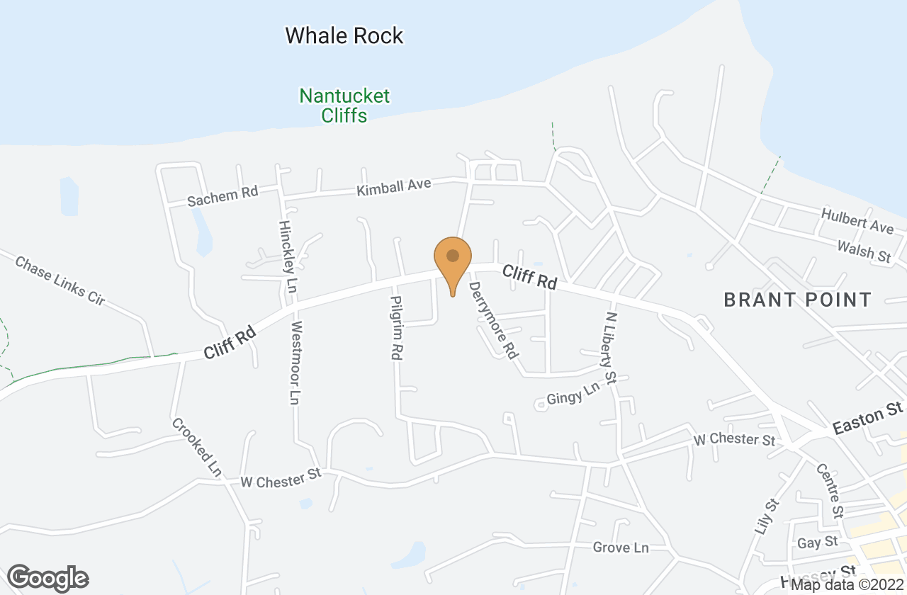Google Map of 2 Kings Way, Nantucket, MA, USA