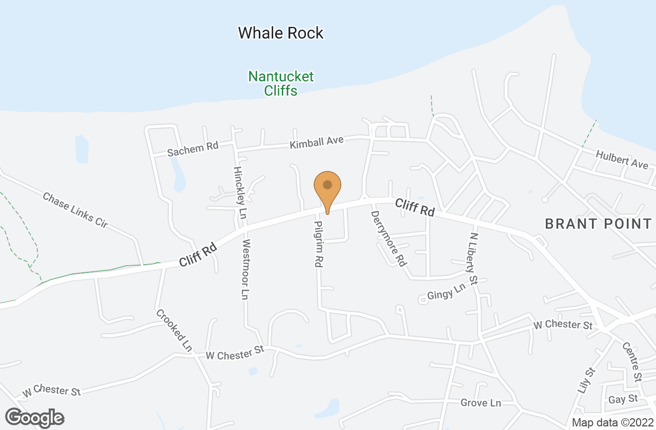 Google Map of 84 Cliff Road, Nantucket, MA, USA